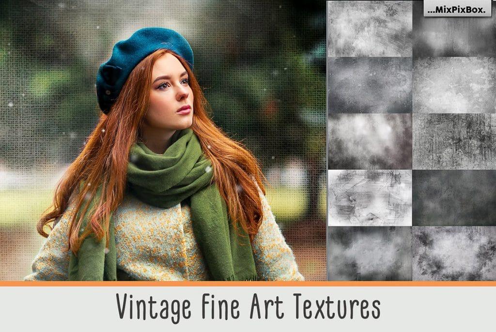 27 vintage fine art textures