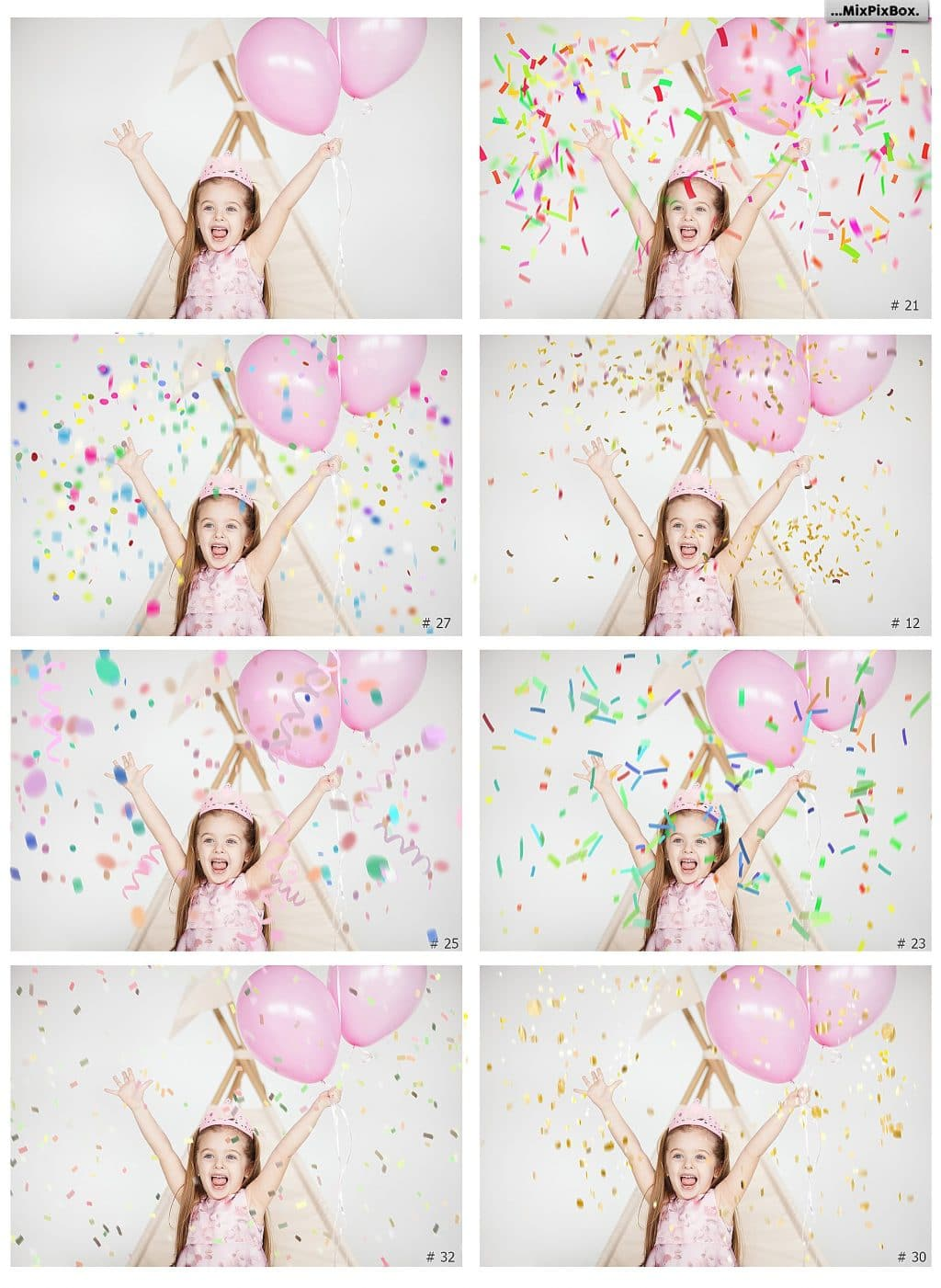 Confetti overlays + PS brushes