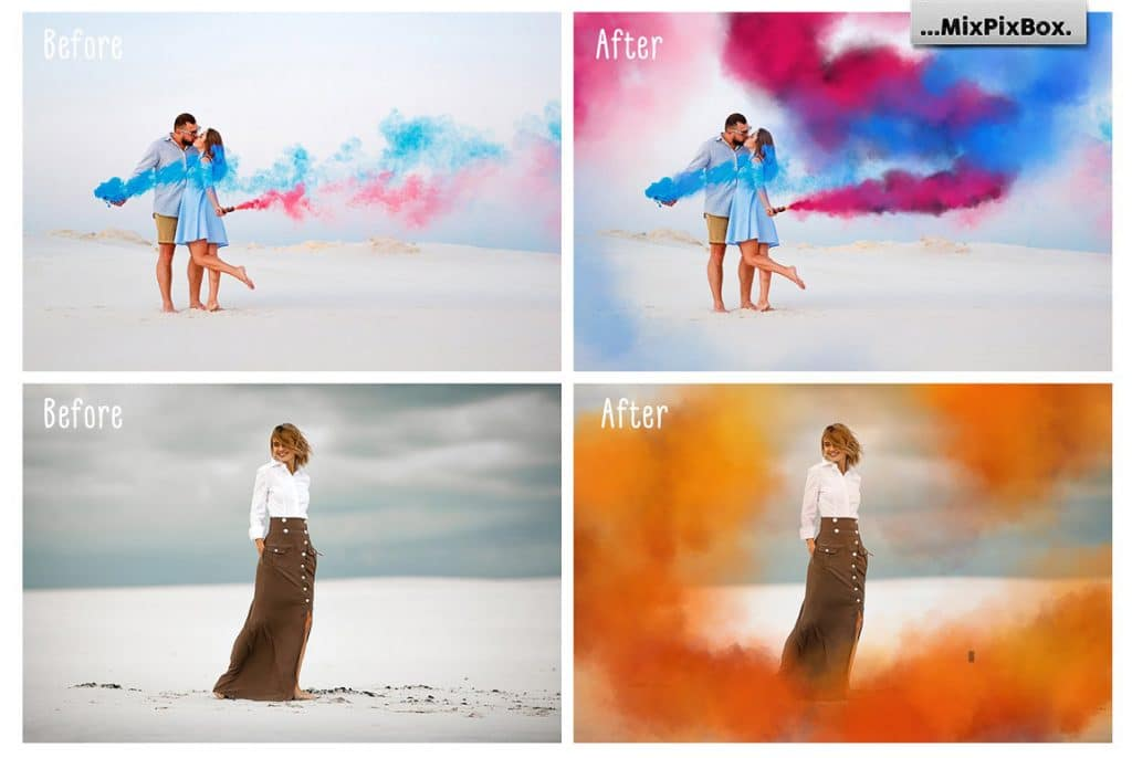 Smoke Bomb Photo Effect