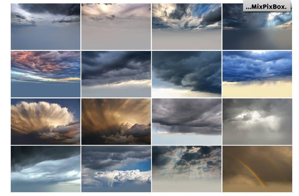 60 Stormy Sky Photoshop Add-on - $8 - 4 5