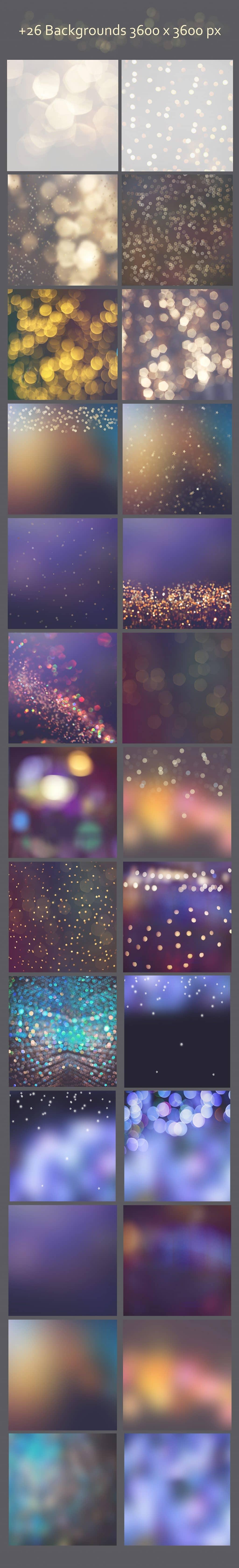 Lights & Stars Clipart + Backgrounds