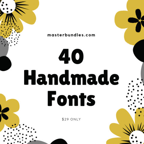 40 Hand Lettering Fonts Bundle for $29 Only - 40 Handmade Fonts 1 490x490