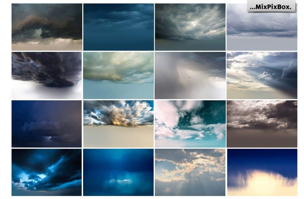 60 Stormy Sky Photoshop Add-on - $8 - 5 3