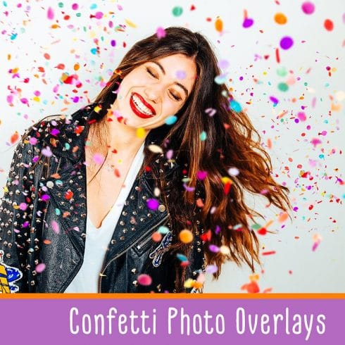 Confetti Overlays + PS Brushes - $10 - 600 2 490x490