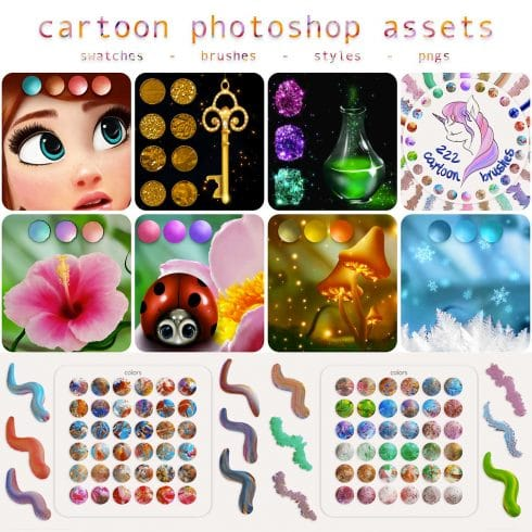 Cartoon Photoshop Assets - $9 - 600 24 490x490