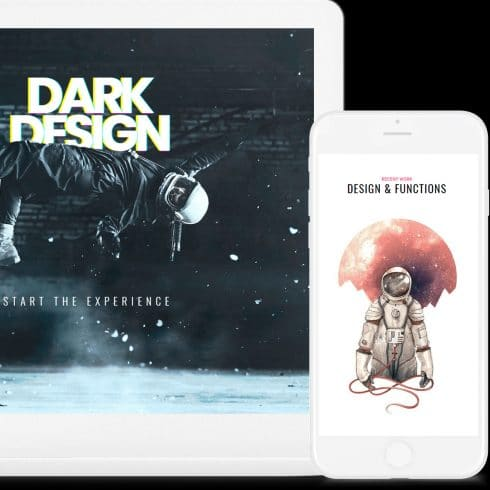 Dark WordPress Theme: Responsive Dark Website Builder - $25 - 600 8 490x490
