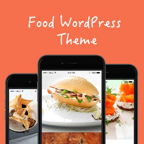 Food WordPress Theme - $25 - 601 11 490x490