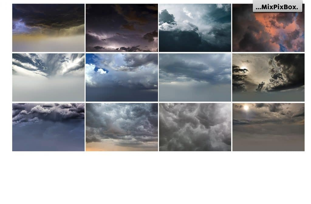 60 Stormy Sky Photoshop Add-on - $8 - 7 1