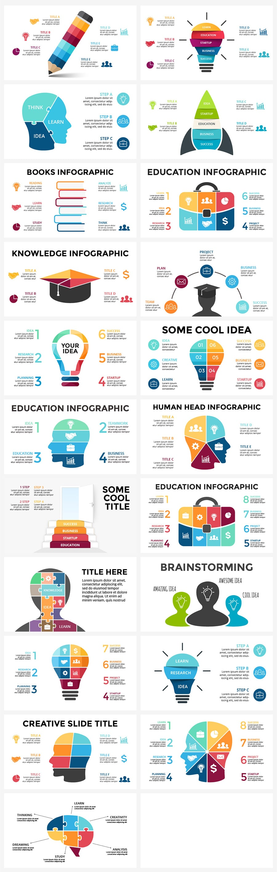 Education Infographics Bundle