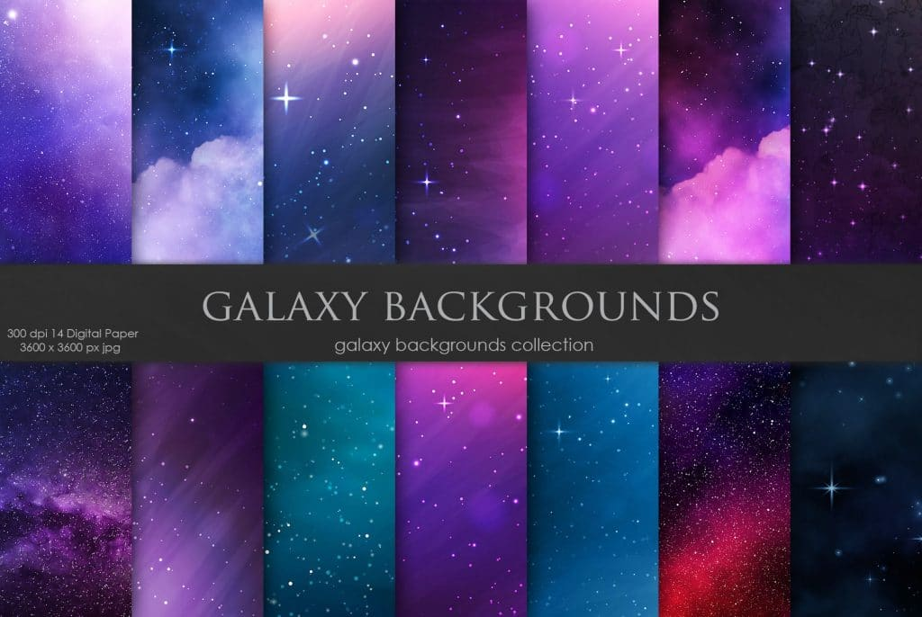 Galaxy Backgrounds Collection