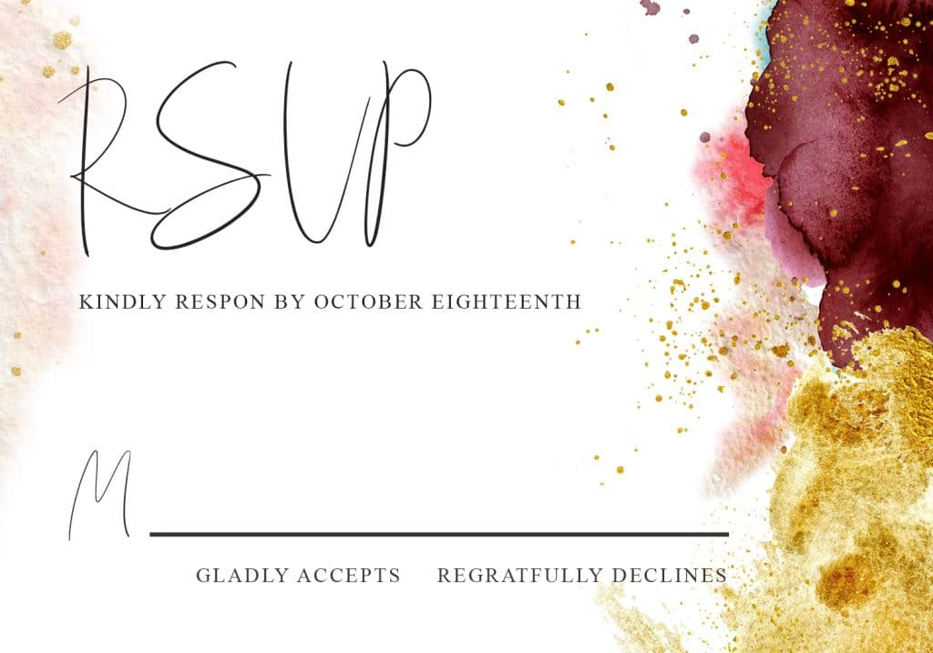 Burgundy and Gold Wedding templates