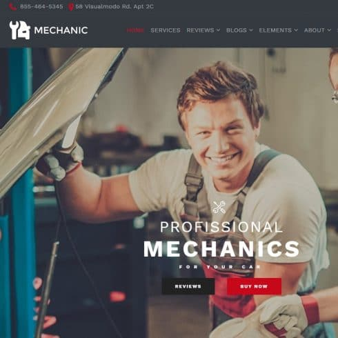 Mechanic WordPress Theme - $25 - Screenshot 38 490x490