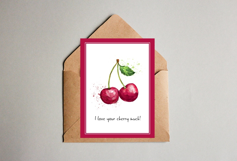 I love your Cherry much! Valentine's Day Card