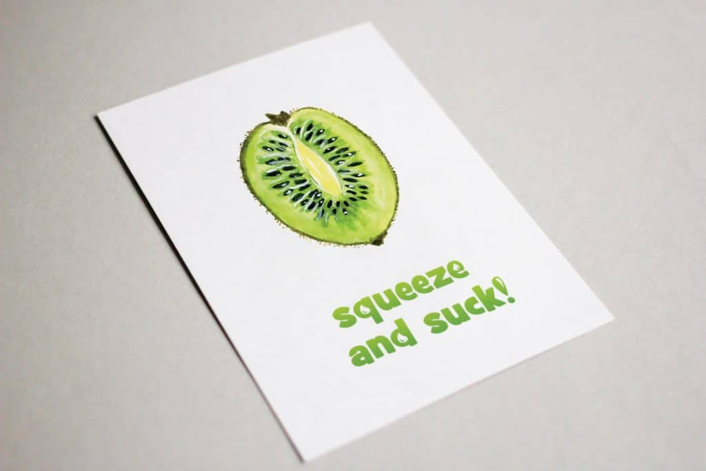 Squeeze and Suck: Funny Summer Postcard