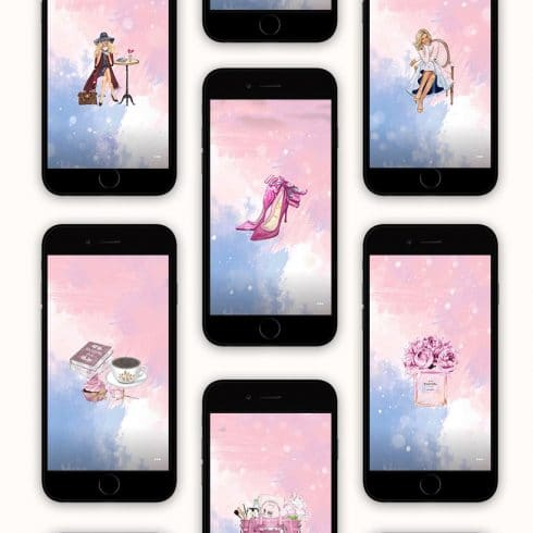 4 Pack of Pink & Blonde Instagram Highlights Covers - $7 - Untitled 2 490x490