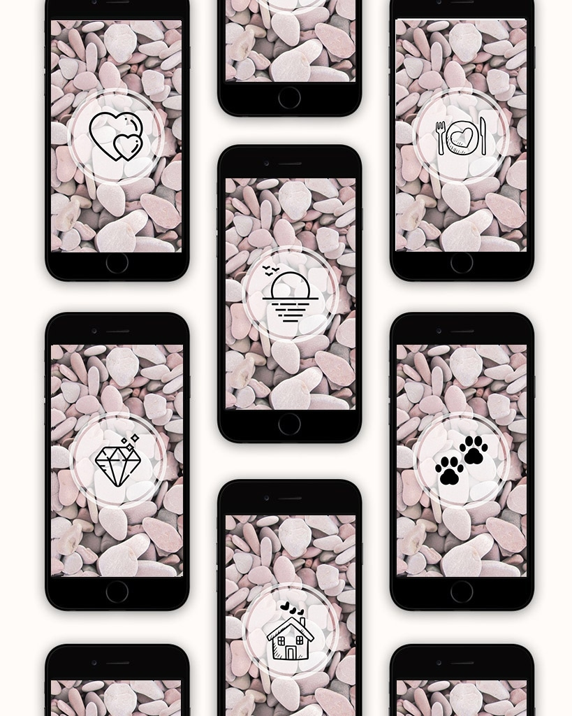 3 Pack of Pink & Blonde Instagram Highlights Covers