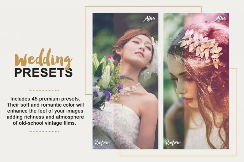 Best Selling Lightroom Presets Collection – 70% Off - Wedding Photography Lightroom Presets Designmont.com actions presets fonts themes and more 2