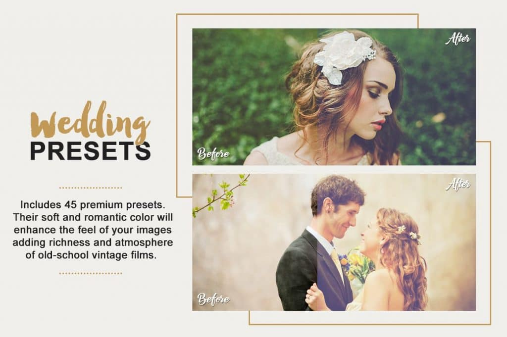 Best Selling Lightroom Presets Collection – 70% Off - Wedding Photography Lightroom Presets Designmont.com actions presets fonts themes and more 3
