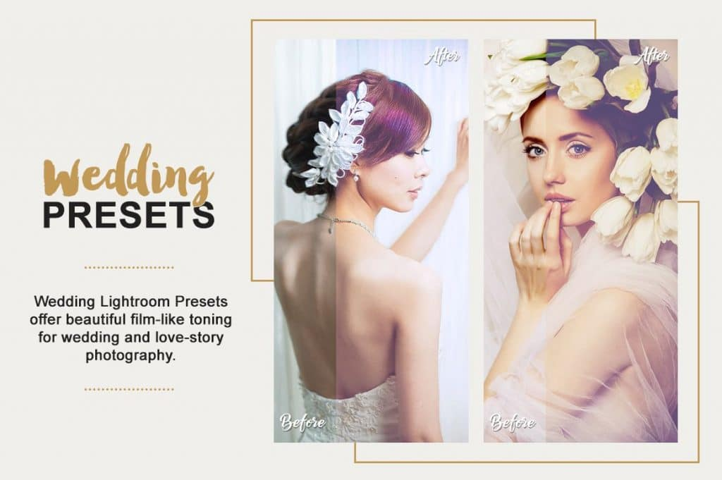 Best Selling Lightroom Presets Collection – 70% Off - Wedding Photography Lightroom Presets Designmont.com actions presets fonts themes and more 4