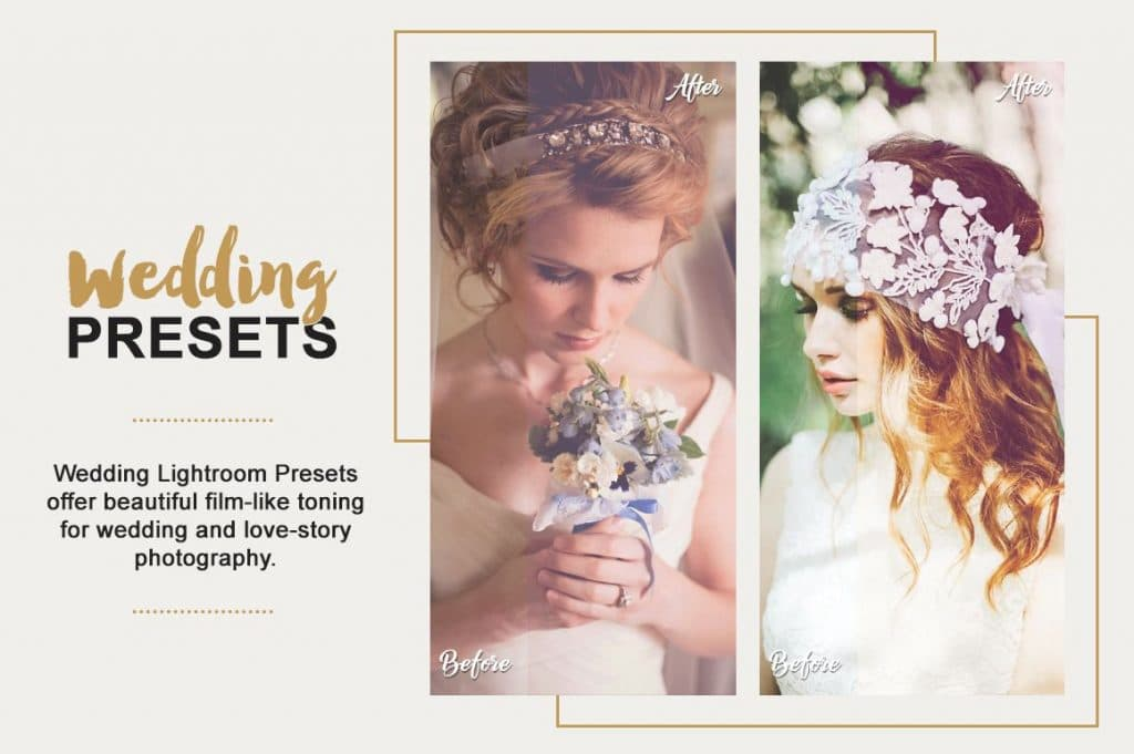 Best Selling Lightroom Presets Collection – 70% Off - Wedding Photography Lightroom Presets Designmont.com actions presets fonts themes and more