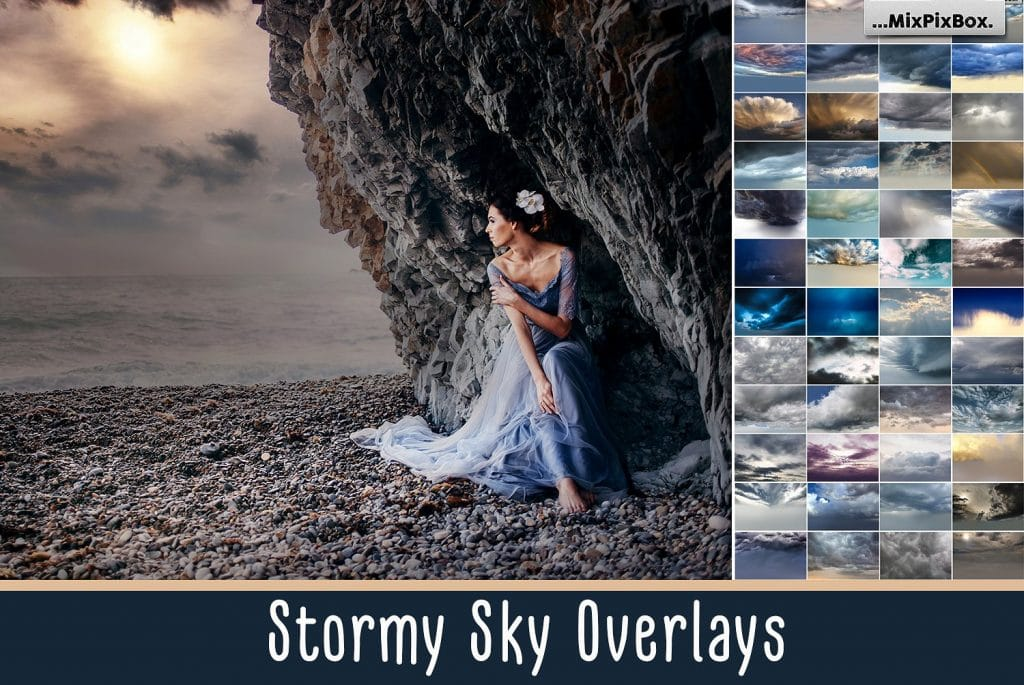 60 Stormy Sky Photoshop Add-on