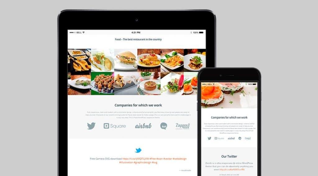 15 WordPress Themes Black Friday Bundle - food wordpress theme iphone and ipad 1170x650