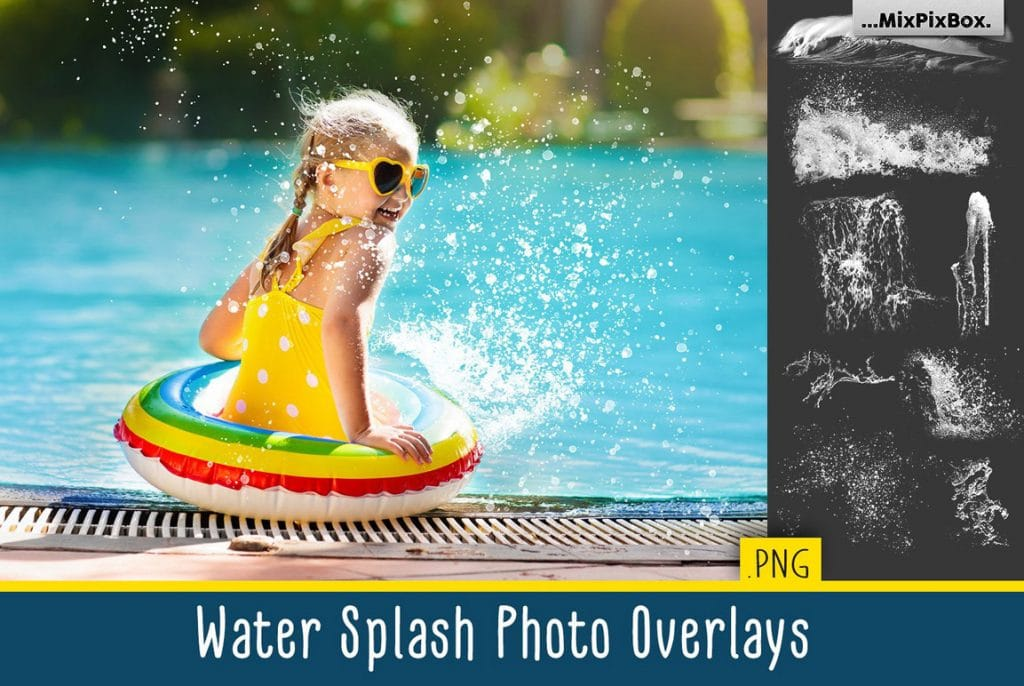 32 Water Splash Photo Addons
