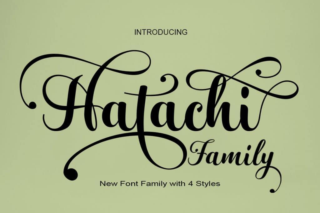 Hatachi FamilyScript Font