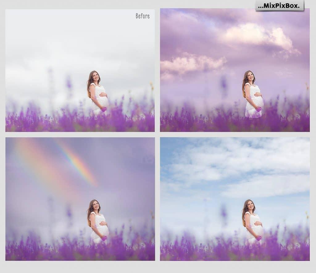 Wedding Dreamy Sky Photo Overlays
