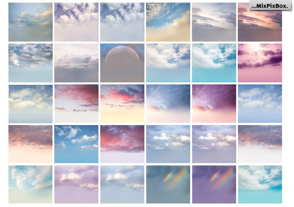 60 Wedding Dreamy Sky Photo Overlays - $8 - 3 2