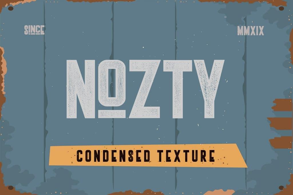Nozty Condensed Typeface