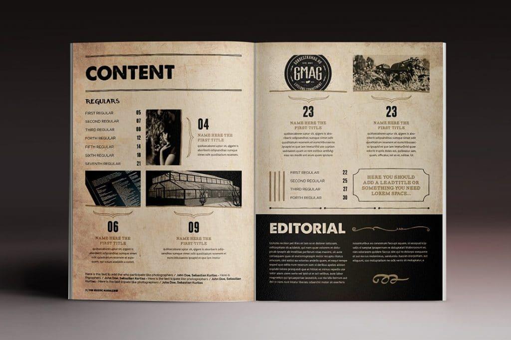 15 InDesign Magazines & Brochures - $29 - 42