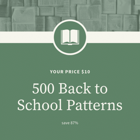 9 Christmas Patterns Vector Art .EPS - 500 Back to School Patterns 490x490