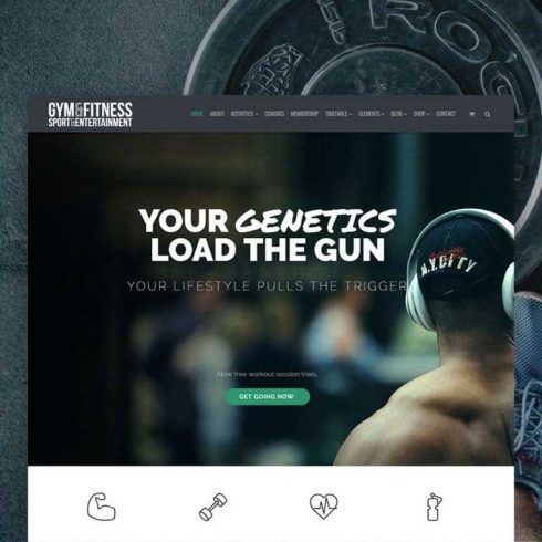 Gym WordPress Theme - $25 - 600 11 490x490