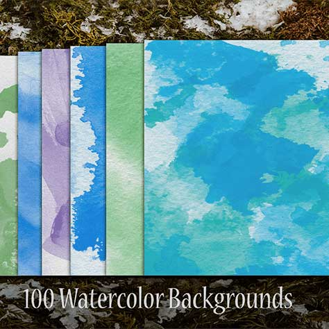100 Watercolor Backgrounds - $5 - 600 13