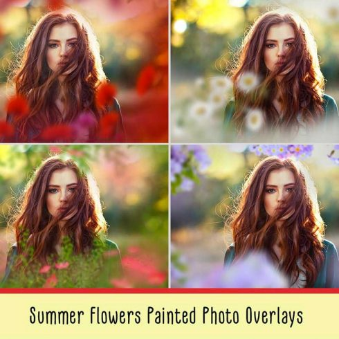 36 Summer Flowers Painted Overlays - $8 - 600 490x490