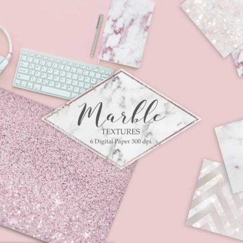 6 Marble, Rose, Glitters Textures - $4 - 600 9 490x490