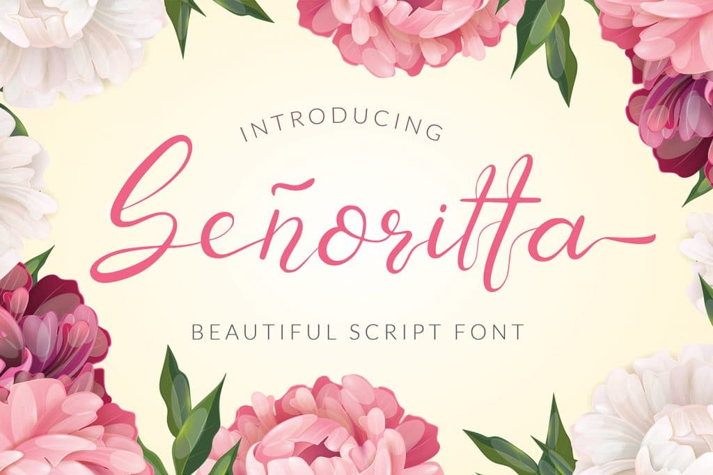 95+ Best Girly Fonts 2021: Free, Premium & Bundles - Preview1
