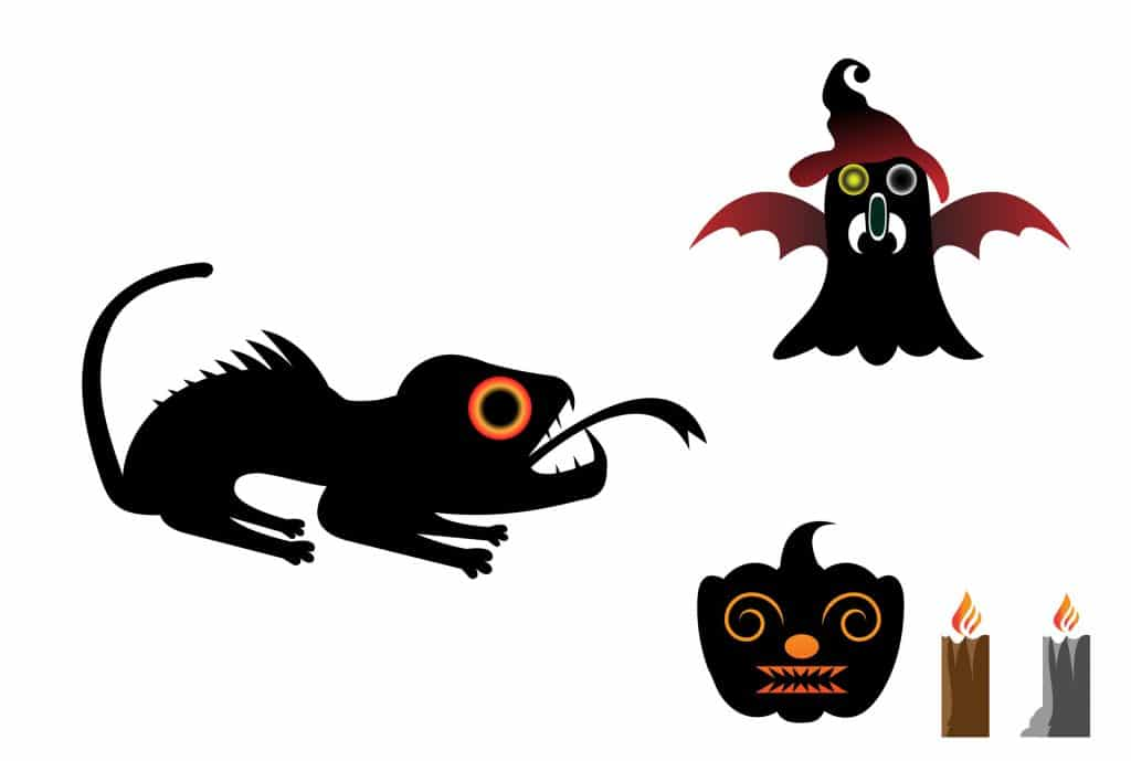 Happy Halloween Scary Logo Bundle - $2 - a43f0471979769.5bd80e687bafb