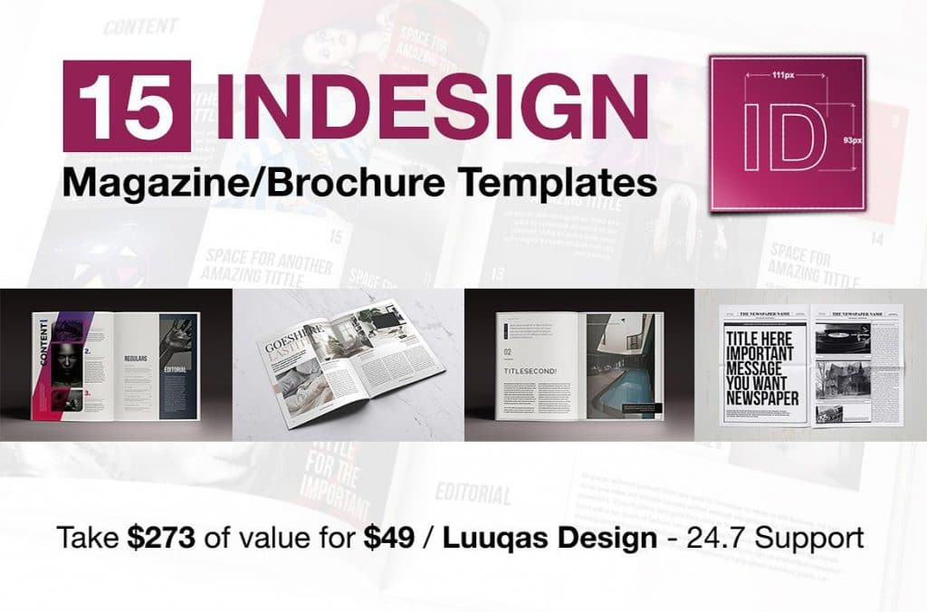 15 InDesign Magazines & Brochures - $29 - cover 1 1