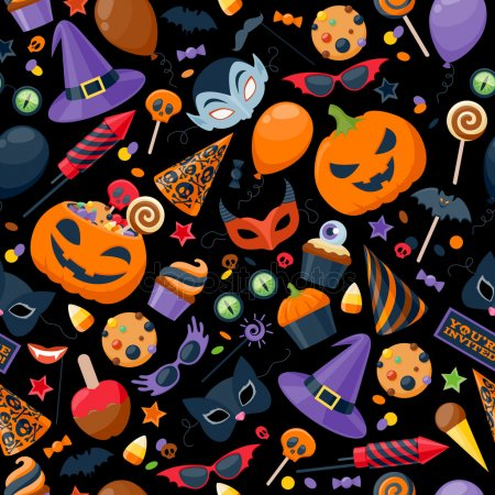 Halloween Stock Photos & Images. Photo Deal: 100 Royalty-free Photos & Vectors - $69! - depositphotos 81674776 stock illustration halloween party colorful seamless pattern