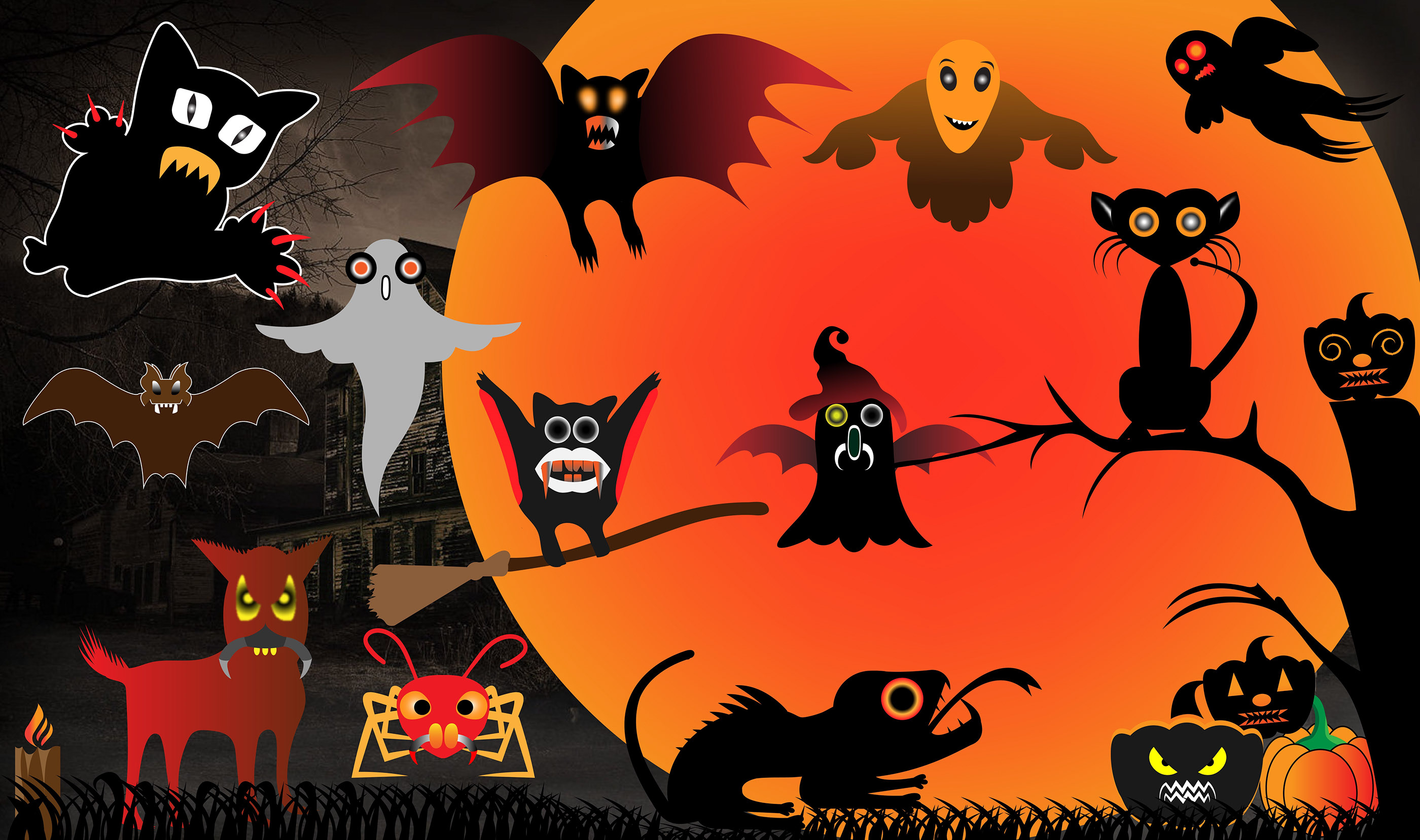 Happy Halloween Scary Logo Bundle - $2 - effe1f71979769.5bd80e687e117