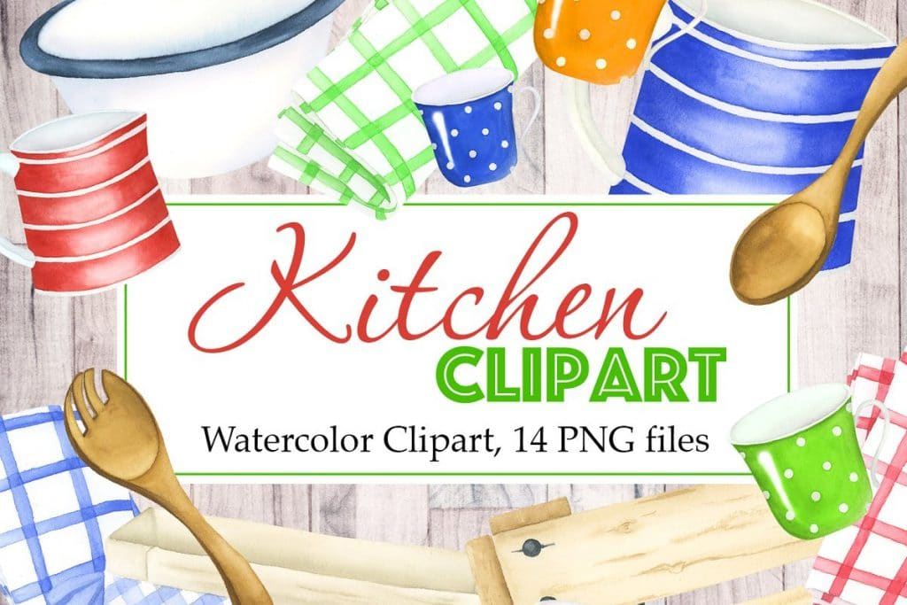 Watercolor Kitchen Appliances