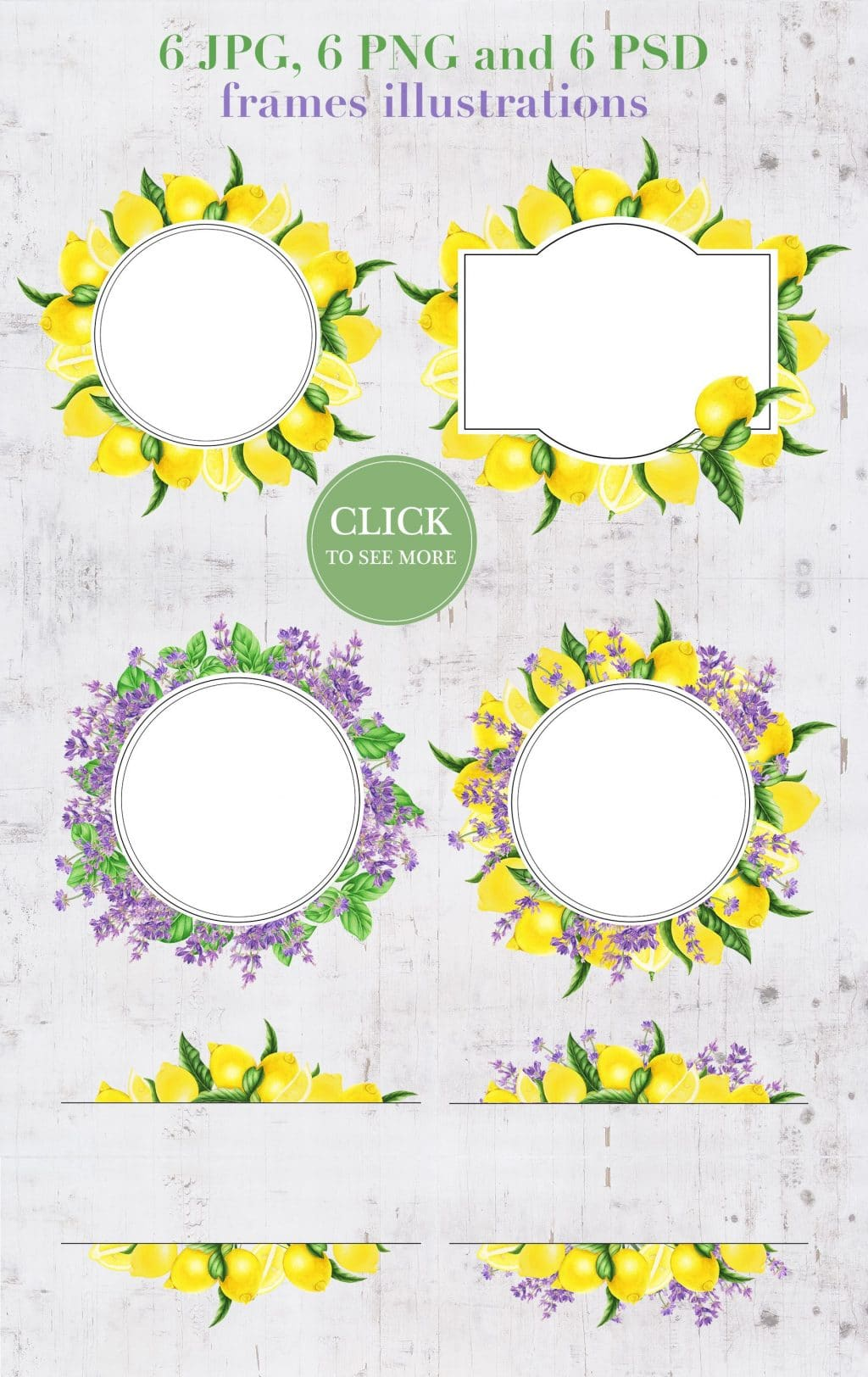Provence: Lemons and Lavender Clipart - $14 - 04