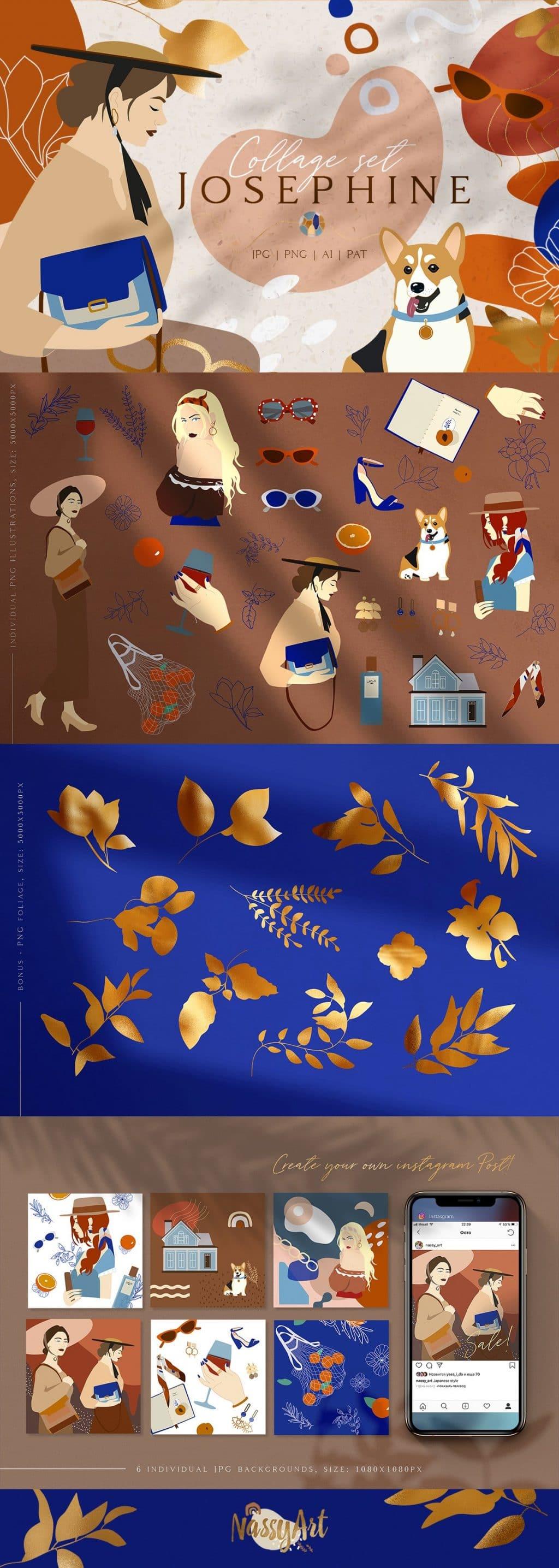Josephine Branding Collage Set - $16 - 1а