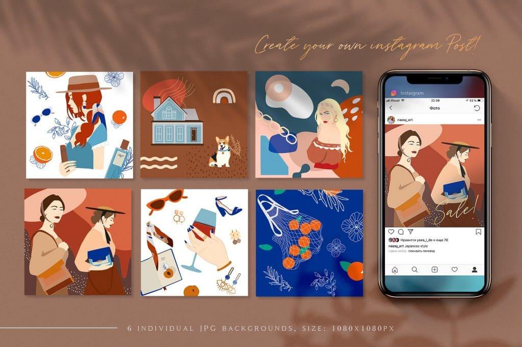 Josephine Branding Collage Set