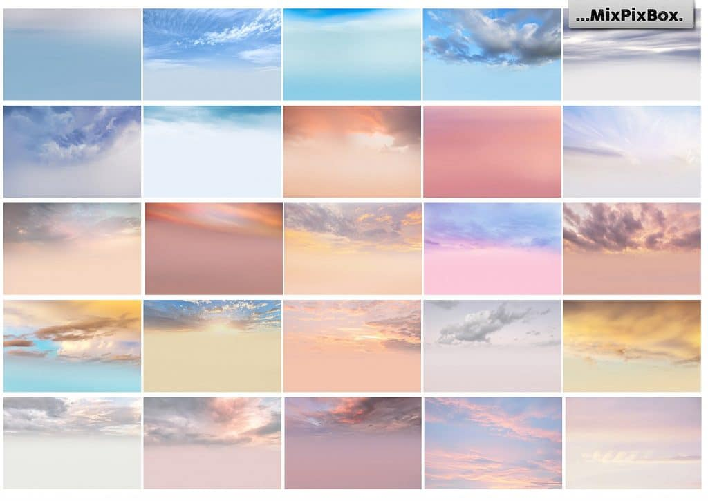 60 Pastel Sky Overlays - $8 - 4