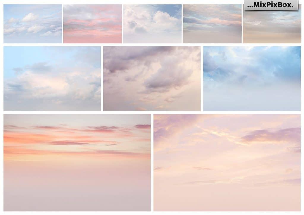 60 Pastel Sky Overlays - $8 - 5