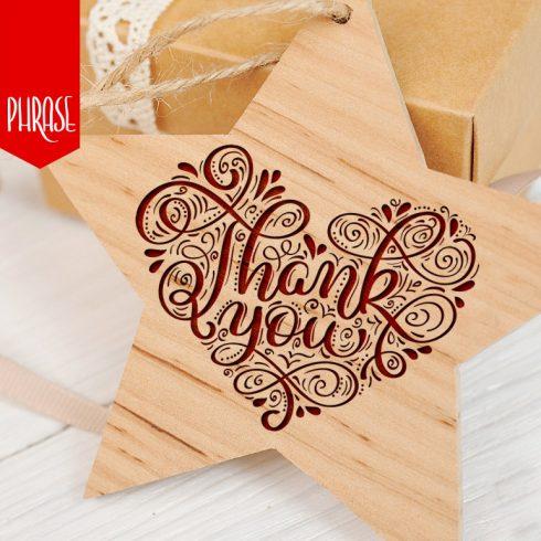 Vintage Calligraphy Phrase Thank You - $6 - 601 2 490x490