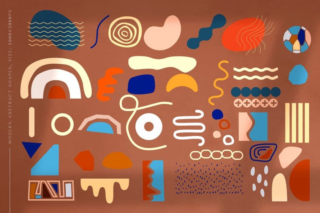 Abstract shapes for illustrations.